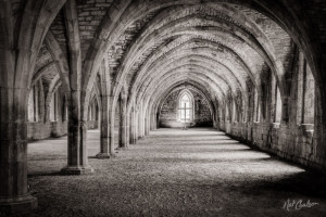Great Cloister, Fountains Abbey, Ripon, England